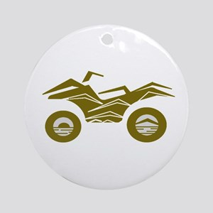 ATV Round Ornament