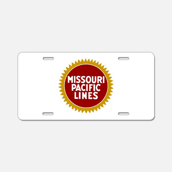 Missouri Pacific Railroad Aluminum License Plate