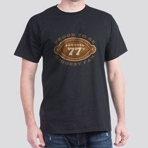 Football Number 77 Biggest Fan T-Shirt