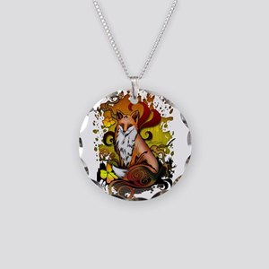 Outdoor Fox Necklace Circle Charm