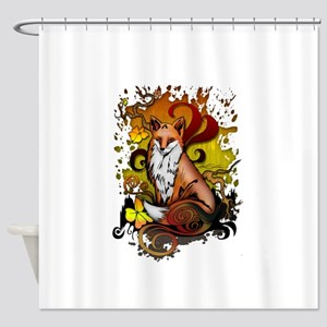 Outdoor Fox Shower Curtain