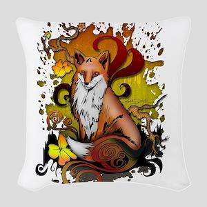 Outdoor Fox Woven Throw Pillow