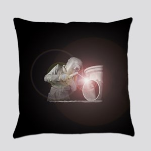 Vintage Welder with Colored Flash Everyday Pillow