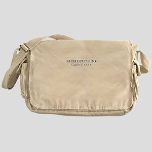 Kappa Delta Rho Class of XXXX Person Messenger Bag