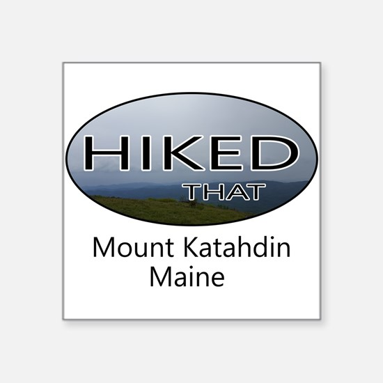 Hiking Mount Katahdin Sticker
