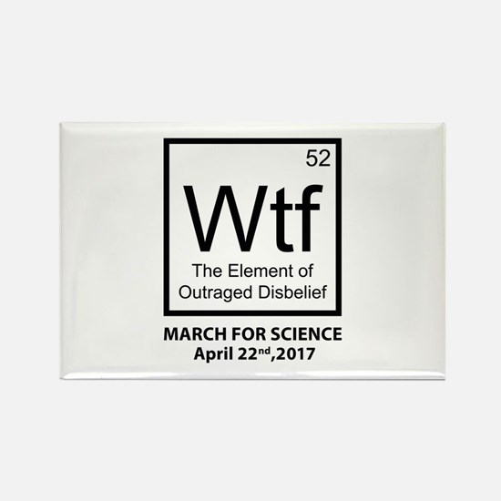 Wtf Outraged Disbelief Rectangle Magnet (100 pack)