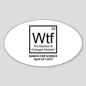 Wtf Outraged Disbelief Sticker (Oval)