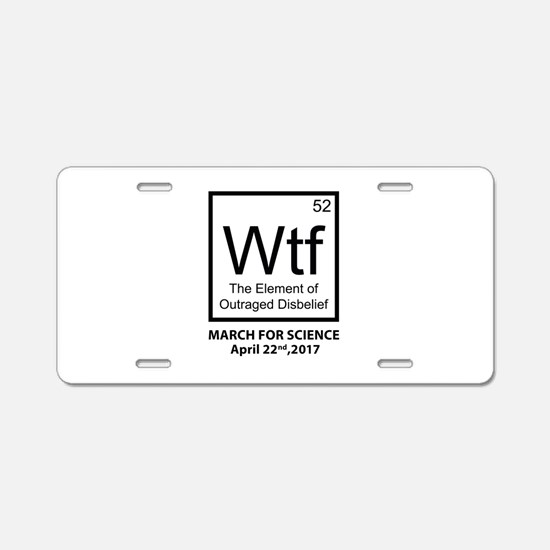 Wtf Outraged Disbelief Aluminum License Plate