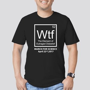 Wtf Outraged Disbelief Men's Fitted T-Shirt (dark)
