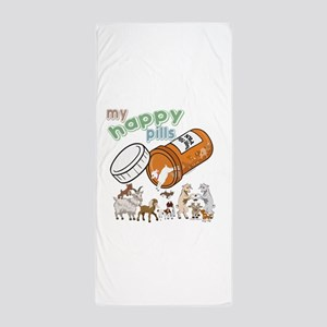 Goats | My Happy Pills GetYerGoat Orig Beach Towel