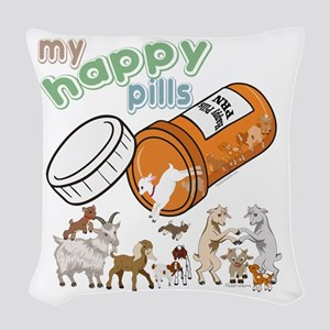 Goats | My Happy Pills GetYerG Woven Throw Pillow