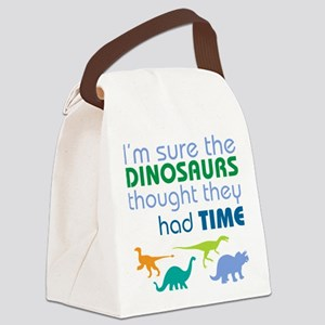Dinosaurs had time Canvas Lunch Bag