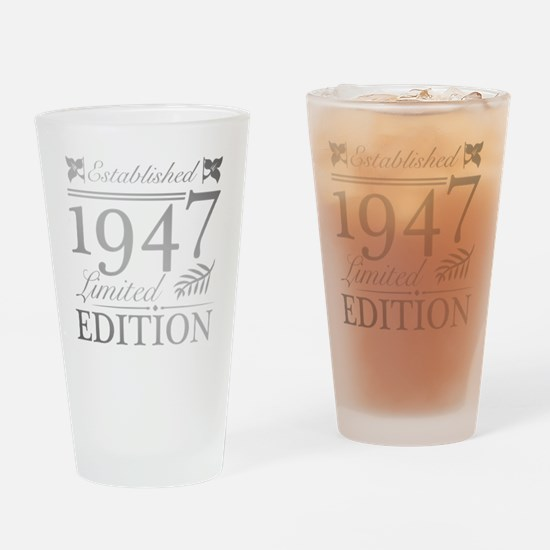 Unique 70 year old Drinking Glass