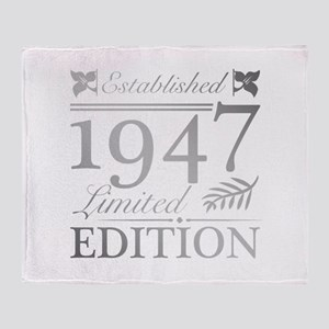 1947 Limited Edition Throw Blanket