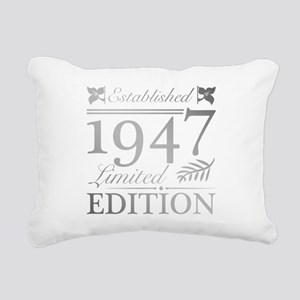 1947 Limited Edition Rectangular Canvas Pillow