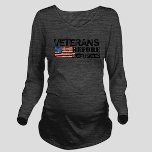 Veterans Before Refu Long Sleeve Maternity T-Shirt