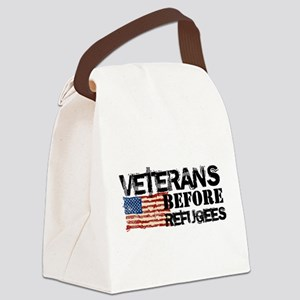 Veterans Before Refugees Canvas Lunch Bag