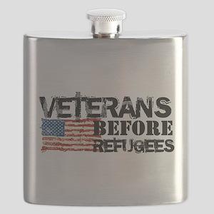 Veterans Before Refugees Flask