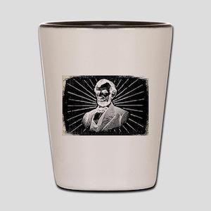 grunge abraham lincoln Shot Glass