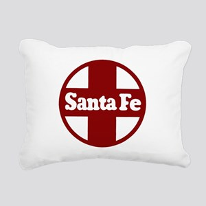 Santa Fe Railroad Red Rectangular Canvas Pillow