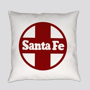 Santa Fe Railroad Red Everyday Pillow