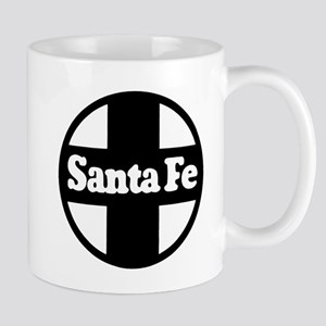 Santa Fe Railroad black Mugs
