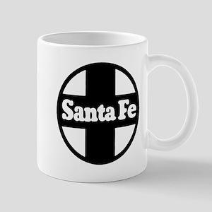 Santa Fe Railroad black Mugs