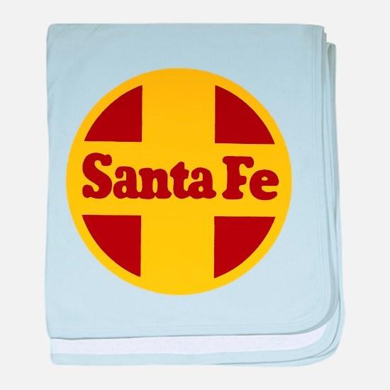 Santa Fe Railway baby blanket