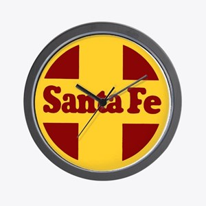 Santa Fe Railway Wall Clock