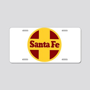 Santa Fe Railway Aluminum License Plate