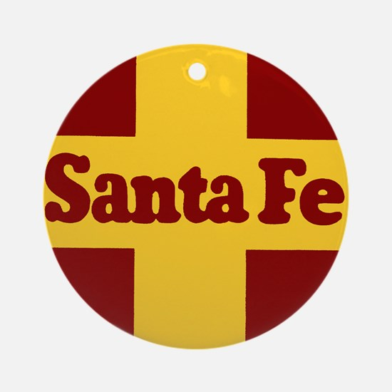 Santa Fe Railway Round Ornament