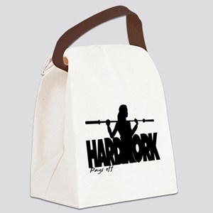 HARDWORK Pays off Canvas Lunch Bag