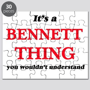It's a Bennett thing, you wouldn't Puzzle