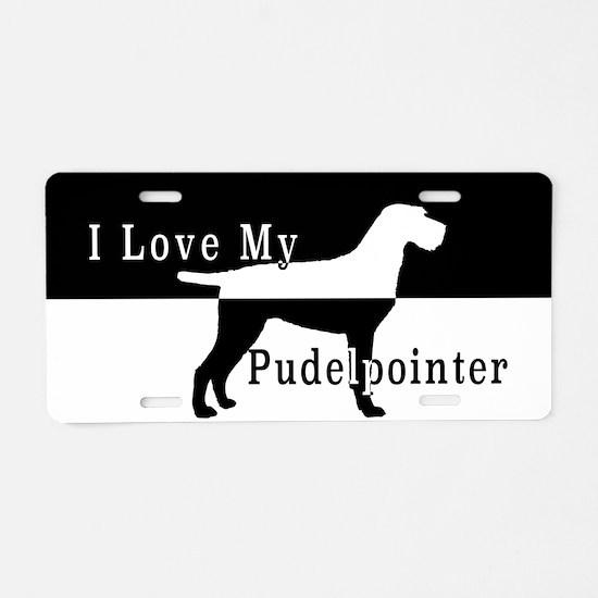 Pudelpointer Aluminum License Plate