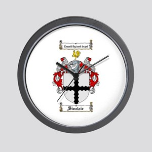 Sinclair Coat of Arms Wall Clock