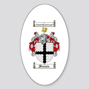 Sinclair Coat of Arms Oval Sticker