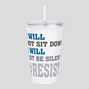 I WILL NOT BE SILENT Acrylic Double-wall Tumbler