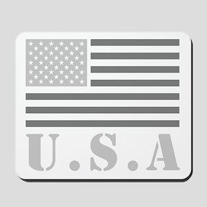 Gray Usa Flag Mousepad