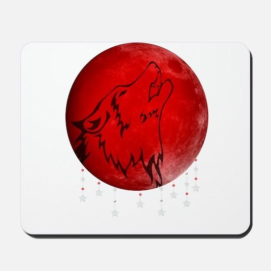 Wolf Moon Mousepad
