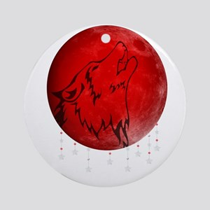 Wolf Moon Round Ornament
