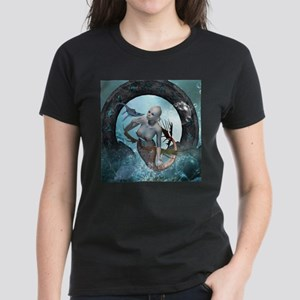 Beautiful mermaid with seadragon T-Shirt