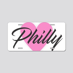 I Heart Philly Aluminum License Plate