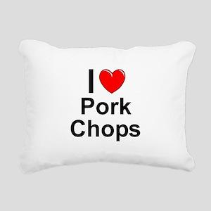 Pork Chops Rectangular Canvas Pillow