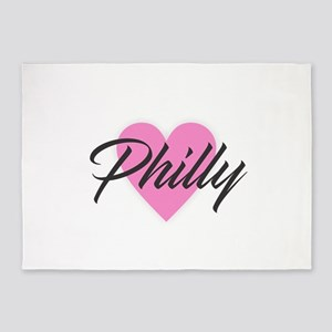 I Heart Philly 5'x7'Area Rug