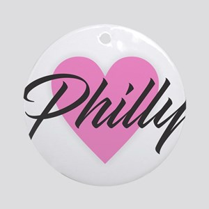 I Heart Philly Round Ornament
