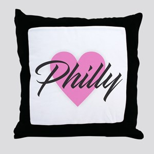 I Heart Philly Throw Pillow