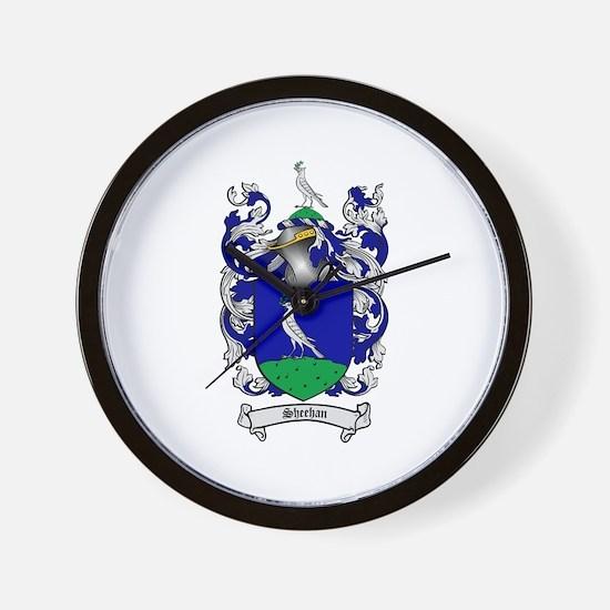 Sheehan Coat of Arms Wall Clock