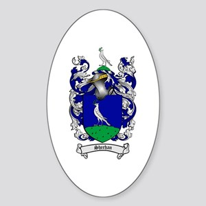 Sheehan Coat of Arms Oval Sticker