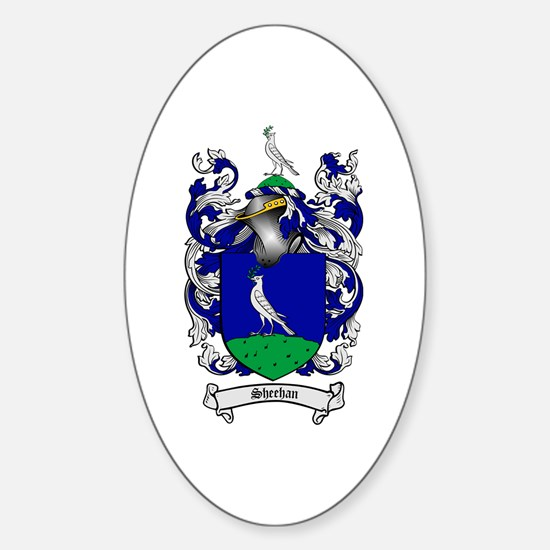 Sheehan Coat of Arms Oval Decal