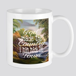 God made the country Mugs
